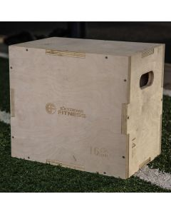 """Extreme Fitness 3 in 1 Wooden Plyo Box 18"""" x 16"""" x 12"""""""