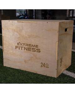 """Extreme Fitness 3 in 1 Wooden Plyo Box 30"""" x 24"""" x 20"""""""