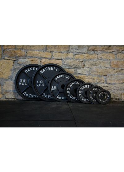 "LIMITED EDTION BLACK Cast Iron 2"" Olympic Weight Plates"