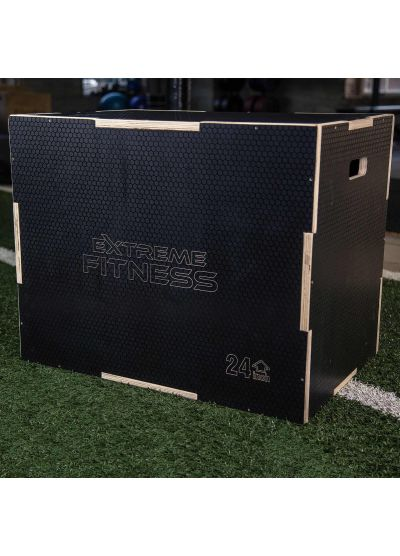 "Extreme Fitness Anti Slip Wooden Plyo Box 30"" x 24"" x 20"""