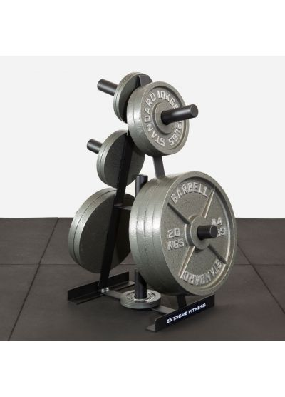 Extreme Fitness Cast Iron 157.5kg Olympic Weights With Rack