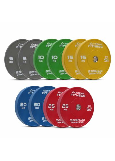 Extreme Fitness Colour Rubber Bumper Plates