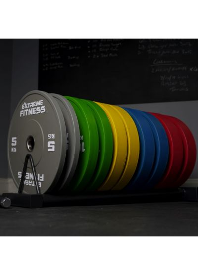 Extreme Fitness Colour Bumper Plates and Bar Package