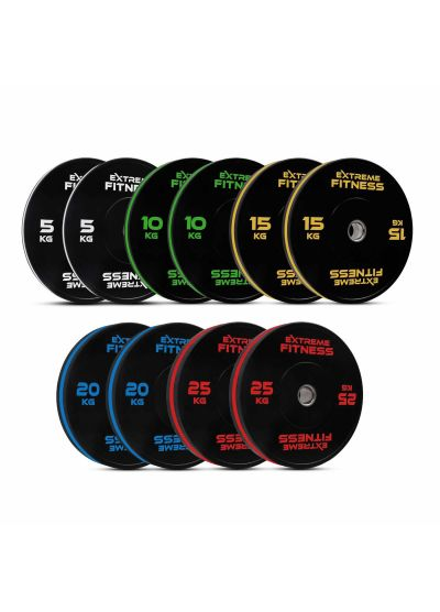 Extreme Fitness Elite Rubber Bumper Plates