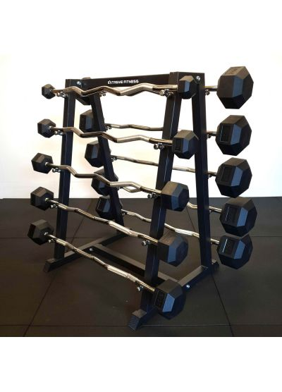 Extreme Fitness Fixed Weight EZ Bar 5-50kg Set