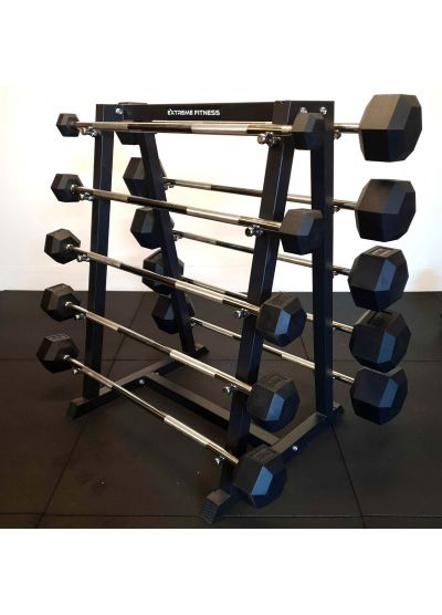 Extreme Fitness Fixed Weight Straight Bar 5-50kg Set