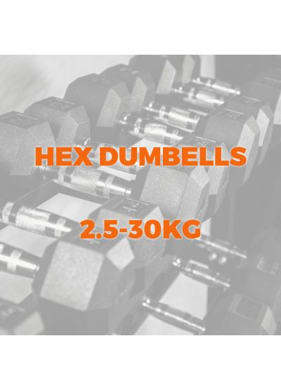 Extreme Fitness 2.5-30kg Rubber Hex Dumbbell Set (12 Pairs)