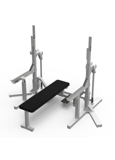 Extreme Fitness Powerlifting Bench Squat Combo Rack