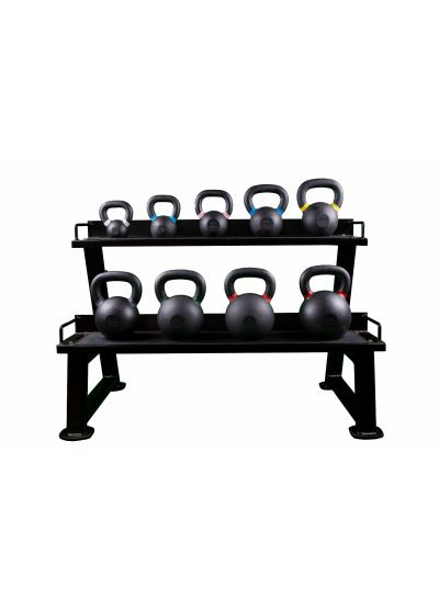Extreme Fitness Cast Iron Kettlebell And Rack Package
