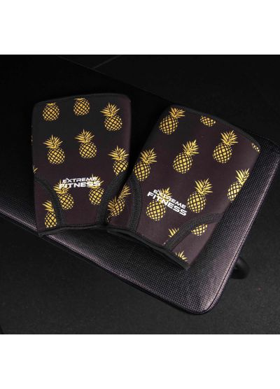 Extreme Fitness Neoprene Gold Pineapple Knee Sleeves 7mm