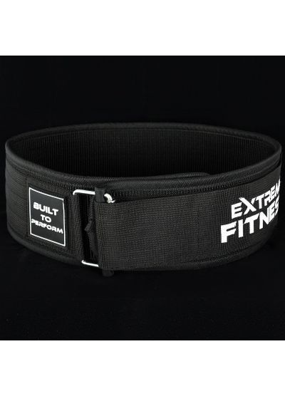 "Extreme Fitness 4"" Weightlifting Nylon Belt BLACK"