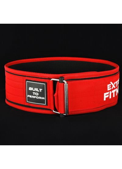 "Extreme Fitness 4"" Weightlifting Nylon Belt RED"