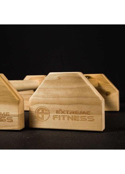Extreme Fitness Wood Parallette Bars