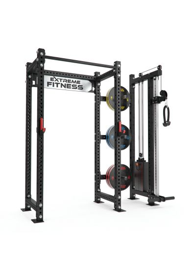 Power Rack + Cable Pulley Combo 2