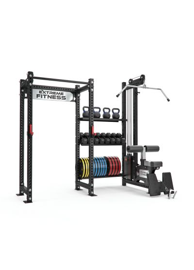 Power Rack + Lat Pulldown/Low Row Combo 1