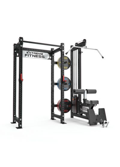 Power Rack + Lat Pulldown/Low Row Combo 2