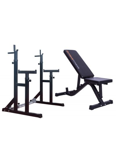 Extreme Fitness Adjustable Weight Bench & Squat Rack Combo