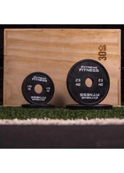 Extreme Fitness Rubber Black Fractional Plates