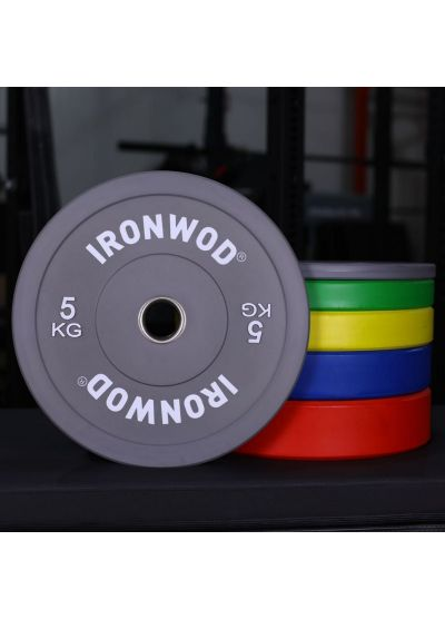 Ironwod Colour Rubber Bumper Plates 150kg Set
