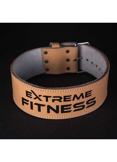 Extreme Fitness Tan Leather Lifting Belt 10mm