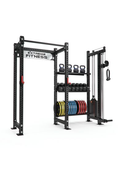Power Rack + Cable Pulley Combo 1