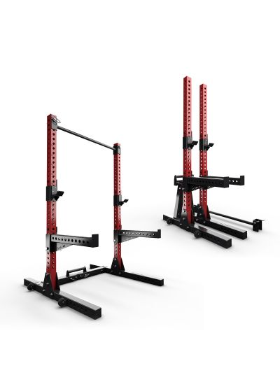 Extreme Fitness EX-SR-400 Folding Squat Rack (RED)