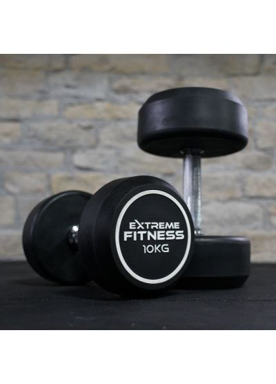 Extreme Fitness Round Rubber Dumbbells