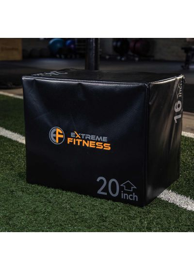 "Extreme Fitness 3 in 1 SMALL Soft Plyo Box 24"" x 20"" x 16"""