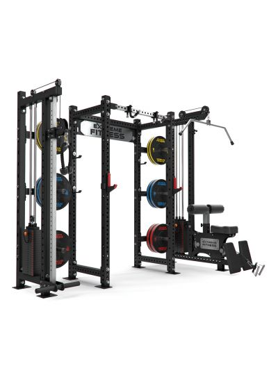 Universal Power Rack with Lat Pulldown and Cable Pulley