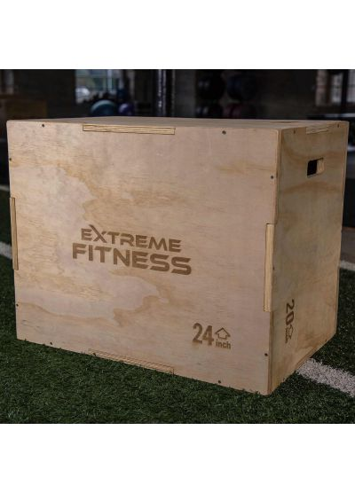 "Extreme Fitness 3 in 1 Wooden Plyo Box 30"" x 24"" x 20"""